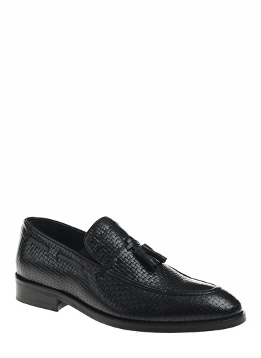 D by Divarese Püsküllü Klasik Deri Ayakkabı Siyah